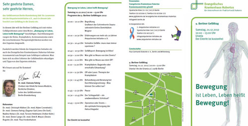 9. Berlin Gefäßtag - Veranstaltungsflyer inkl. Programm