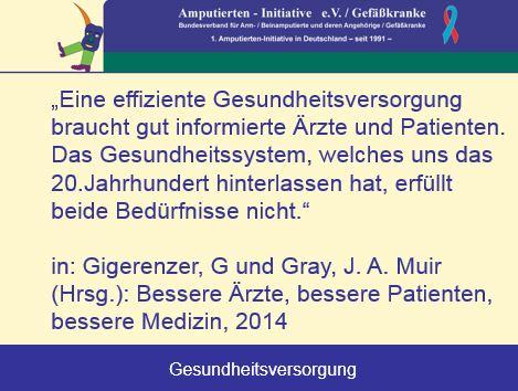 Amputierten - Initiative e.V. / Gefäßkranke - Bundesverband für Arm ...