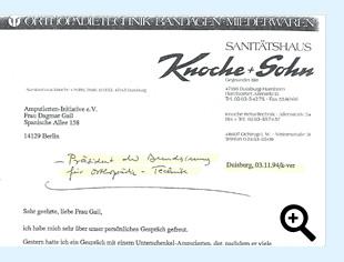 Brief von Herrn Knoche