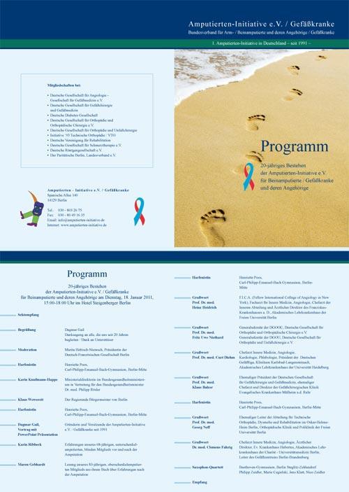 Programm der Amputierten-Initiative e.V. / Gefäßkranke anlässlich Ihres 20 –jährigen Bestehens