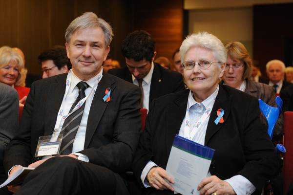 Klaus Wowereit, Regierender Bürgermeister von Berlin, und die Vorsitzende Dagmar Gail